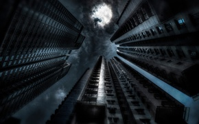 Картинка ночь, арт, Gotham, dark city