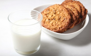 Обои молоко, печенье, стакан