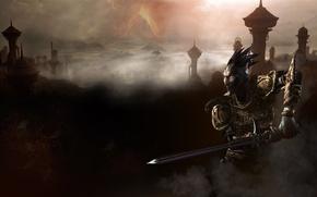 Картинка туман, меч, Morrowind