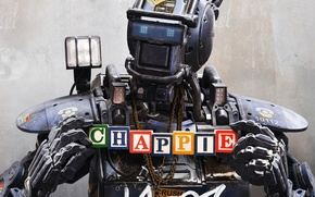 Картинка фильм, кубики, робот, Chappie, Робот по имени Чаппи, Чаппи