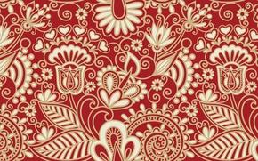 Картинка цветы, узор, текстура, арт, узоры
