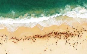Картинка море, пляж, берег, Австралия, Сидней, пловцы, Bondi Beach