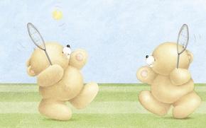 Картинка детская, игра, настроение, арт, лето, Forever Friends Deckchair bear, мишка