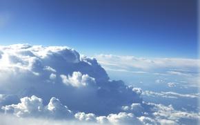 Картинка небо, облака, горизонт
