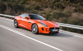 Обои F-Type, Оранжевый, Jaguar, Orange