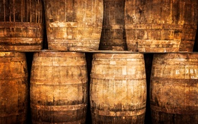 Картинка whiskey, wood, barrel, winery