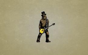 Обои минимализм, guitar, Звездные войны, темноватый фон, шапка, Чуи, Chewey, волосатый, мохнатый, Chewbacca, Star Wars, Чубакка, ...