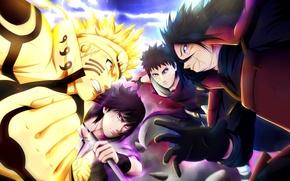 Картинка battlefield, sword, game, anime, katana, sharingan, asian, manga, Uchiha Sasuke, japanese, Naruto Shippuden, Uzumaki Naruto, …