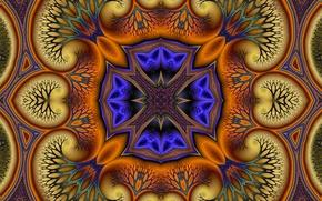 Картинка узор, цвет, текстура, симметрия