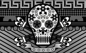 Картинка стиль, фон, череп, skull