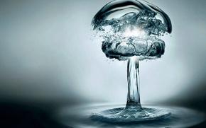 Обои вода, взрыв, бомба