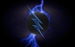 Картинка logo, lightning, blue, symbol, comics, serial, Zoom, television, The Flash, Zolomon Hunter, 2 season