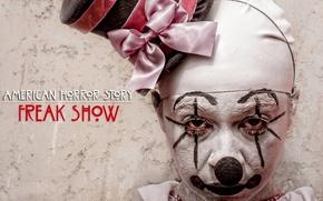 Картинка horror, ghost, hat, man, series, spirit, killer, pose, ribbon, clown, lace, TV series, American Horror ...