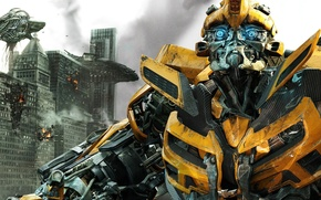 Обои the movie, Bumblbee, Transformers 3, Бамблби, Майкл Бэй, Трансформеры, Тёмная сторона Луны, Michael Bay, Dark ...