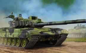 Картинка war, art, painting, tank, Czech T-72M4CZ MBT