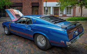 Обои стиль, синий, Mustang, Ford
