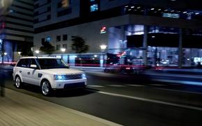 Картинка ночь, обои, range rover