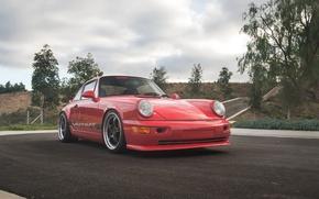 Картинка red, porsche, 964, carrera