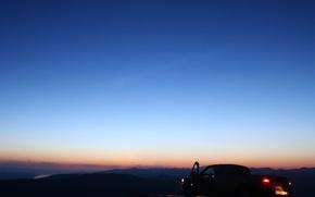 Обои машина, авто, небо, ночь