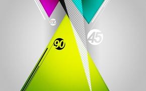 Обои tri, 180, angle, triangle, graphic, degree, shape