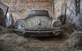 Обои машина, гараж, лом