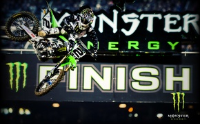 Картинка прыжок, Monster Energy, energy, Motocross, мотцикл, гонщик.