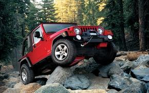 Обои red, wrangler, Jeep
