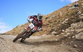 Картинка скорость, downhill, mtb, Велоспорт