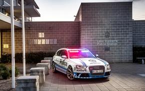Картинка 2015, Police, Avant, RS 4, ауди, полиция, Audi