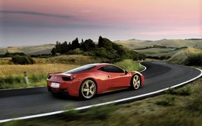 Обои пейзаж, трасса, Ferrari