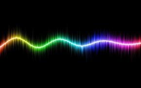 Картинка сияние, полосы, цвет, спектр, линия
