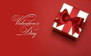 Картинка день Святого Валентина, лента, коробка, подарок