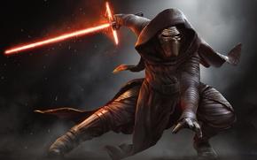 Обои Star Wars, Action, Fantasy, Fire, Darkness, Black, Warrior, Laser, The, Wallpaper, Smoke, Jedi, Force, Year, ...