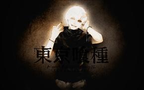 Картинка Art, белые волосы, красный глаз, Kaneki Ken, Токийский гуль, Канеки Кен, Tokyo ghoul