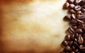 Картинка бумага, кофе, кофейные зерна