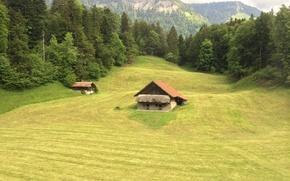 Картинка House, Switzerland, Swiss Alps