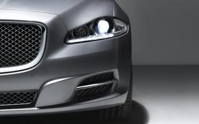 Обои серебро, Jaguar