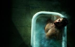 Картинка фон, ванна, мужчина, SPARTACUS, LIAM McINTYRE