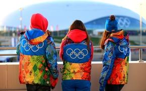 Картинка люди, одежда, олимпиада, символика, Сочи 2014, волонтёры