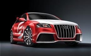 Обои красный, Audi A3
