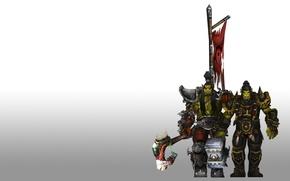 Картинка герб, братья, орки, wow, world of warcraft, знамя, вов, вождь, Тралл, ork, Орда, thrall, Brothers, …