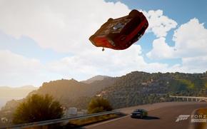 Картинка полет, Ferrari, эпичность, Forza horizon