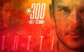 Картинка wallpaper, sport, football, player, AS Roma, Francesco Totti