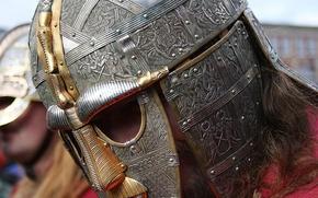 Картинка металл, узоры, доспехи, шлем