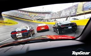 Обои mustang, Corvette, ford, мускул кар, додж, camaro, chevrolet, овал, dodge, challenger, гоночный трек, srt8, top ...