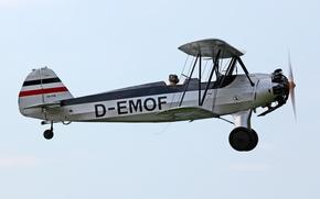 Картинка многоцелевой, немецкий, Focke-Wulf, WW2, учебно-тренировочный самолет, Stieglitz, Fw44J