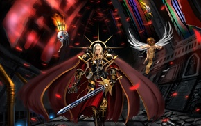 Картинка меч, храм, плащ, warhammer, болтер, доспех, 40k, 40 000, вархамер, сервитор, адептус сороритас, sisters of …