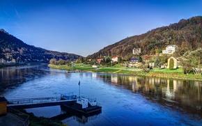 Картинка Германия, Эльба, Саксонская Швейцария, Кёнигштайн