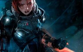 Картинка игра, броня, game, Шепард, Mass Effect 3, Shepard, FemShep