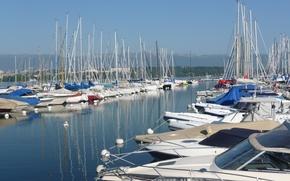 Картинка Швейцария, Switzerland, гавань, harbour, Женева, Женевское озеро, Lake Geneva, Geneva